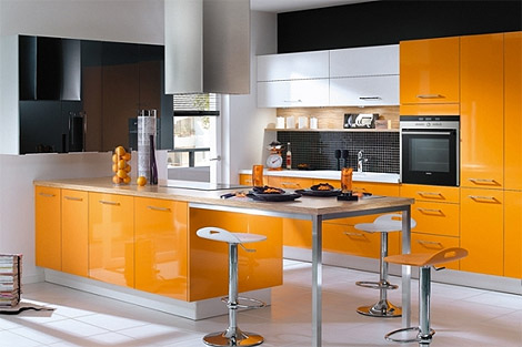 Kitchen Design Blog on Inspiring Orange Kitchen   Design Blog