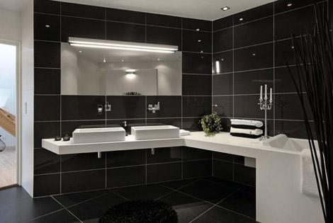 Musta Home Kylpyhuoneessa