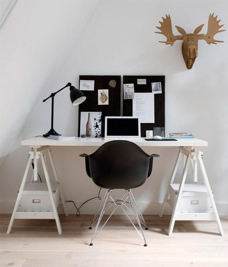Valkoinen työpöytä  Sisustusblogi