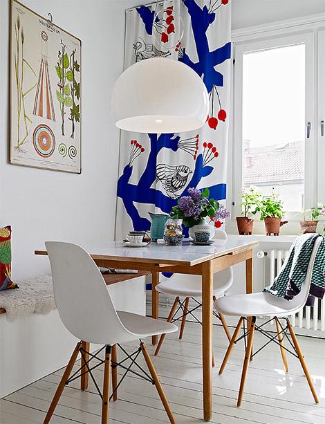 Marimekko fabric & Eames chairs  My Dream Home  Pinterest