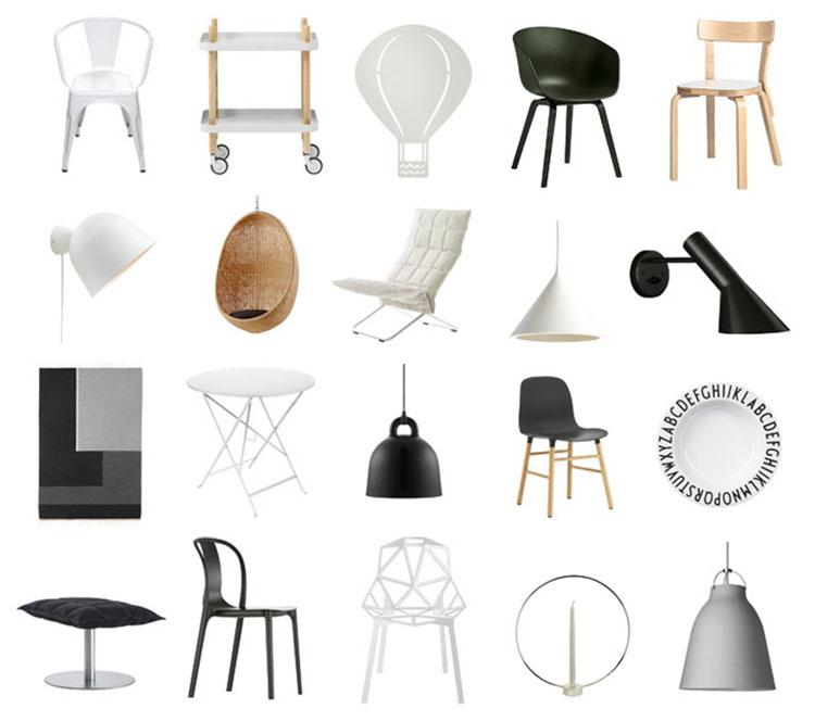 Design ale tuolit valaisimet