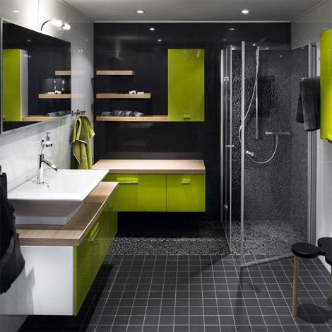 kylpyhuonemustavihrea