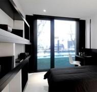 mustavalkoinen-makuuhuone1