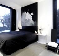 mustavalkoinen-makuuhuone2