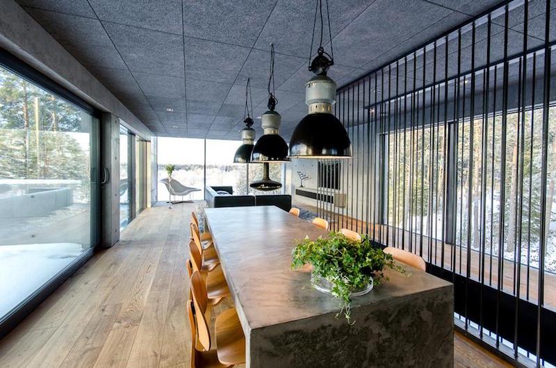 betonitalo-ruokailutila