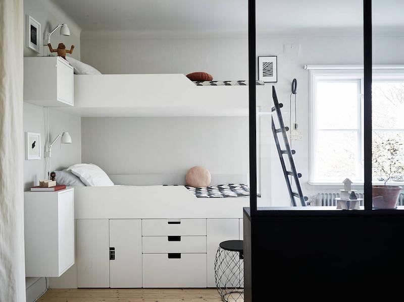 kaksio-makuuhuone-kerrossanky