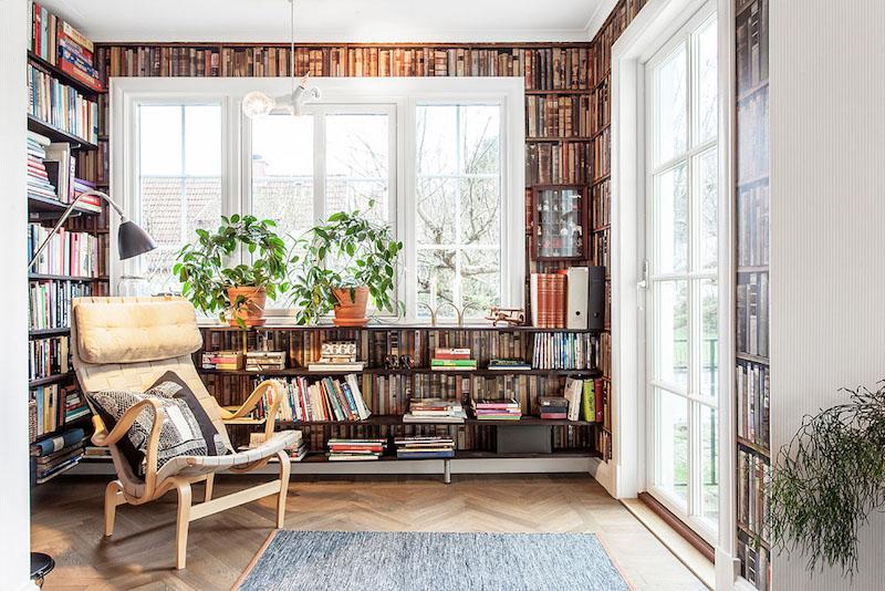 sisustus-tyyli-kirjastohuone