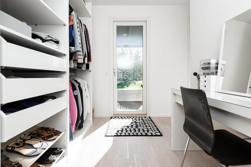 pukeutumistila-mustavalkoinen-koti