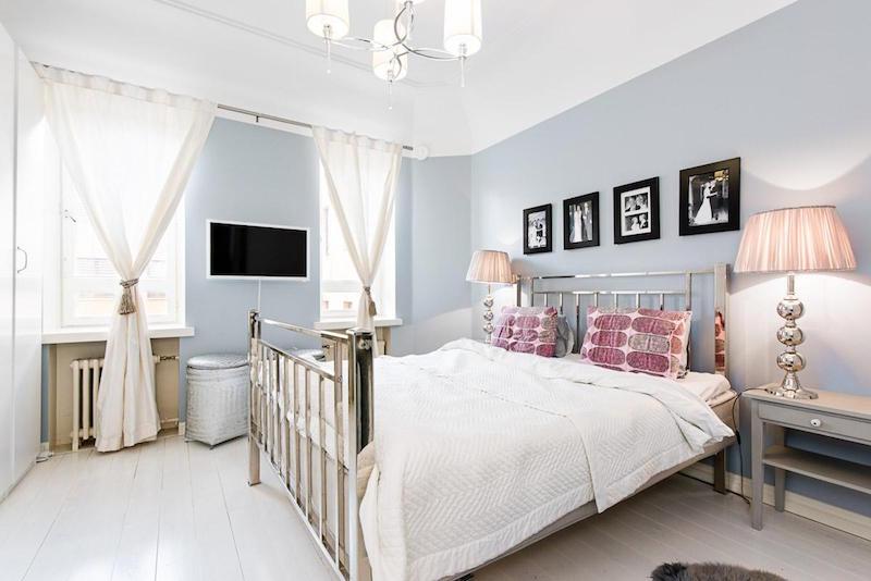 makuuhuone-modern-mustavalkoinen-sisustus