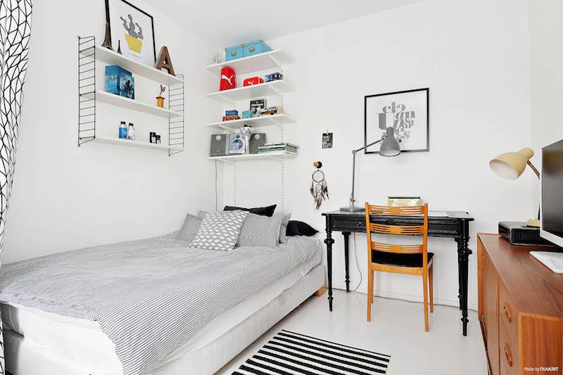 herkullinen-sisustus-makuuhuone-mustavalkoinen
