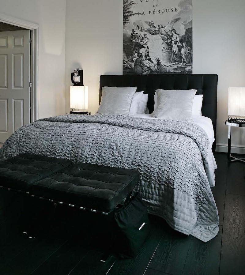 sisustus-koti-mustavalkoinen-tyyli-makuuhuone