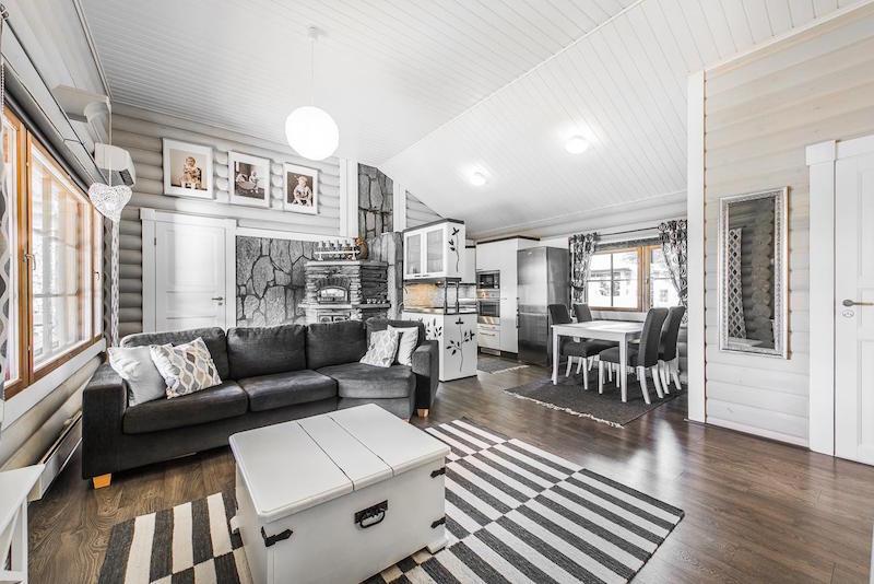 sisustus-harmaa-valkoinen-olohuone