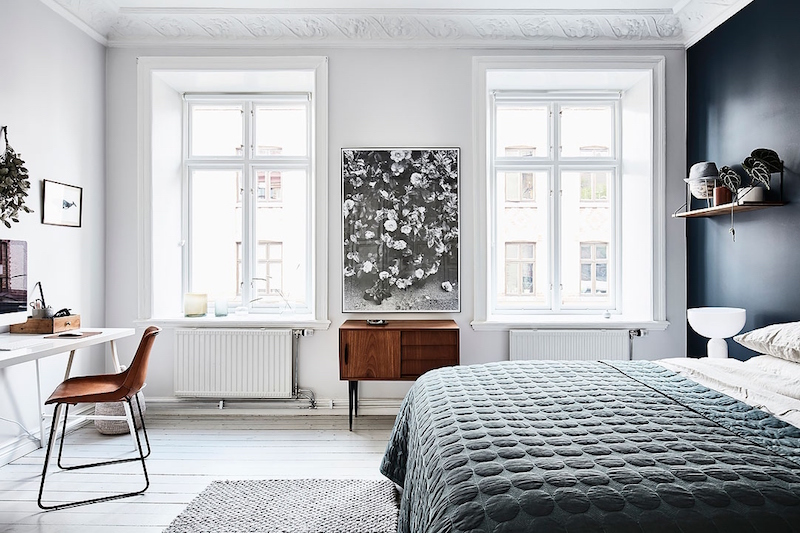 skandinaavinen-sisustus-makuuhuone