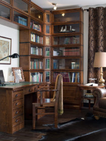 kannustalo-moderni-rauhala-kirjastohuone