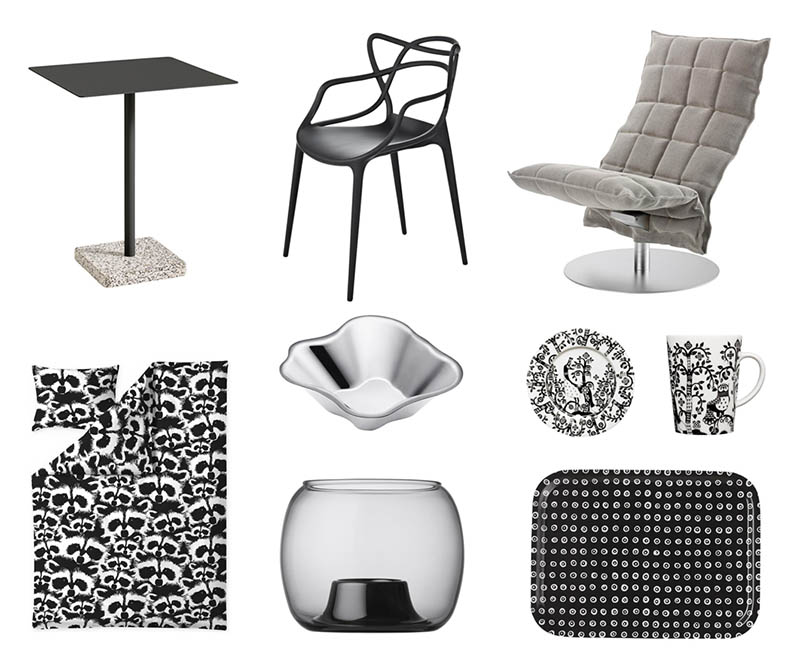 Hullut Päivät, huonekalut ja sisustus