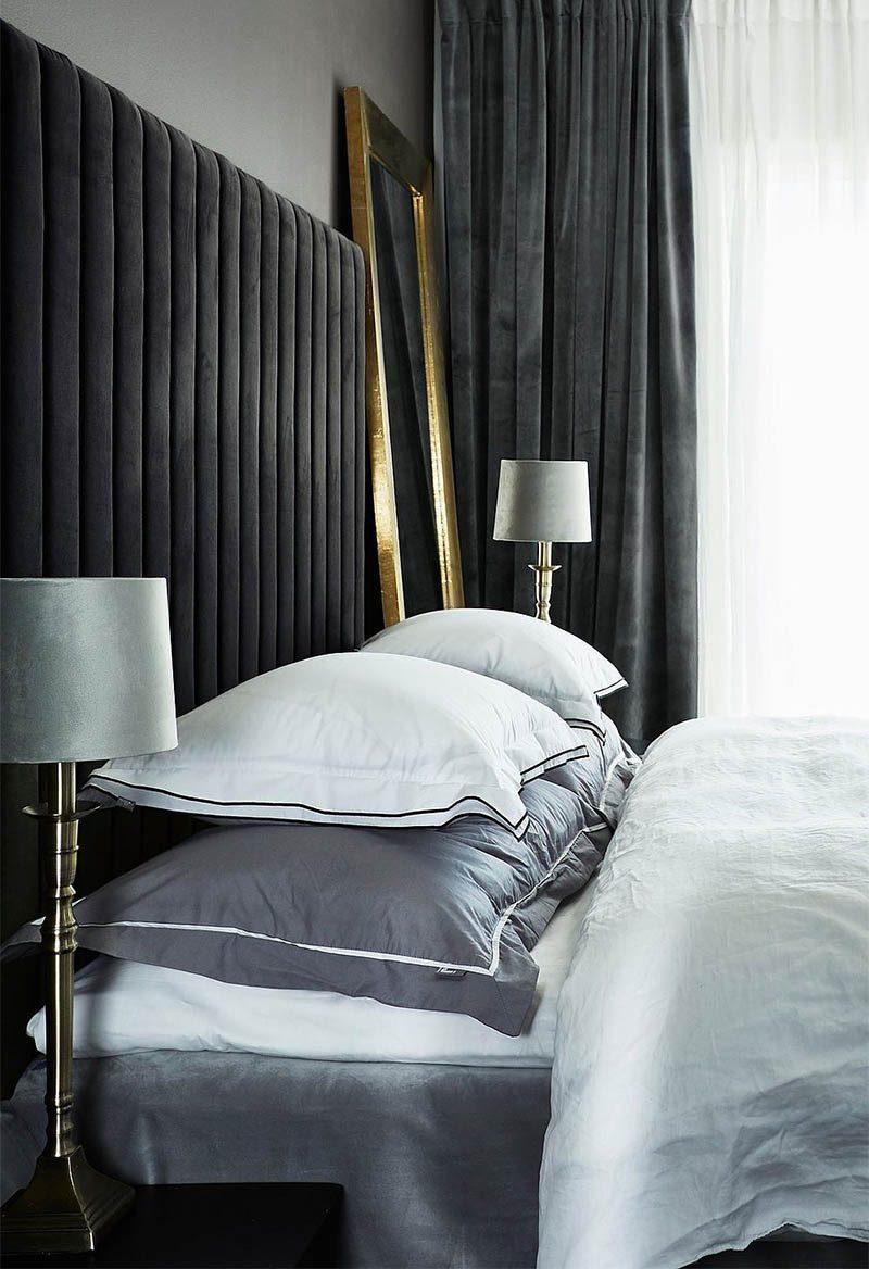 Sängynpääty musta sametti
