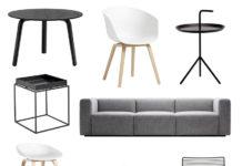 Hay huonekalut musta ja valkoinen