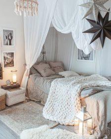 Rustiikkinen sisustus makuuhuone