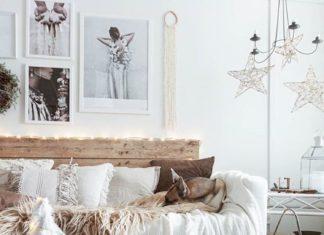 Rustiikkinen sisustus olohuoneen sohva