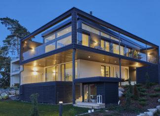 Moderni hirsitalo Villa Nuottakallio