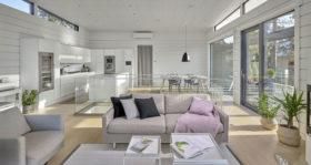 Moderni hirsitalo Villa Nuottakallio koti