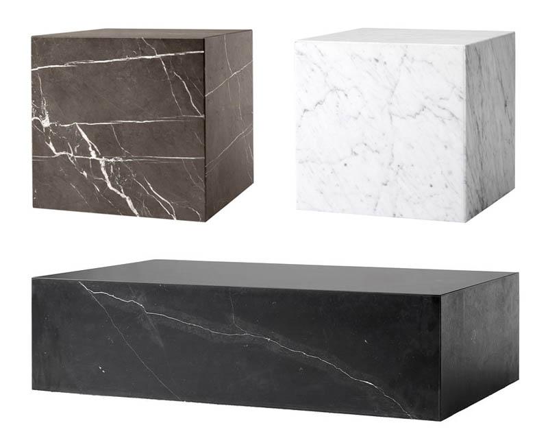Menu Plinth marmoripöytä musta