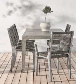 Ruokapöytä terassi harmaa, Belize