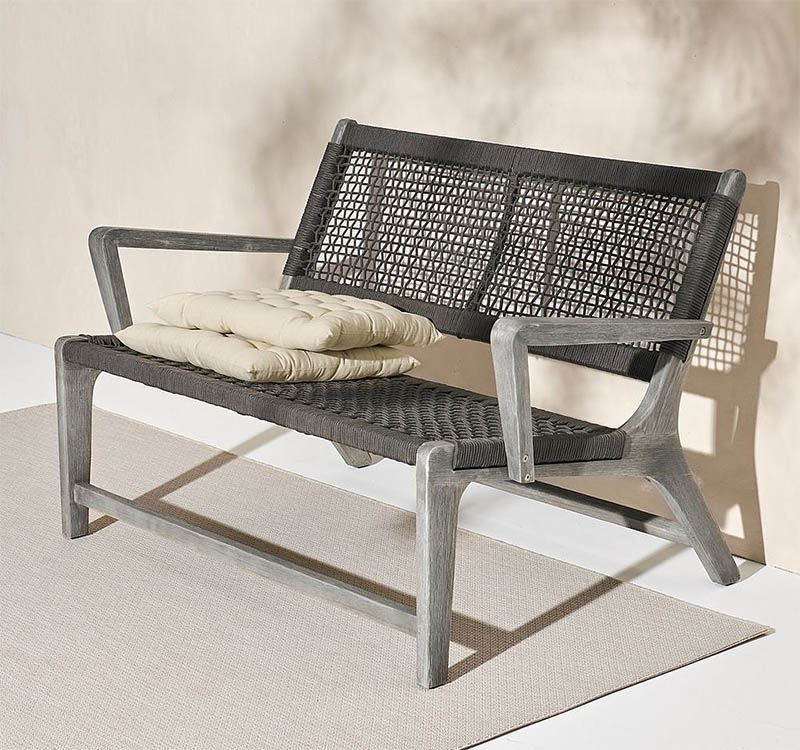 Terassi sohva, harmaa