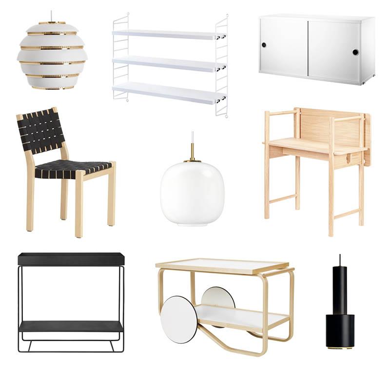 Designin klassikot ja uutuudet edullisemmin