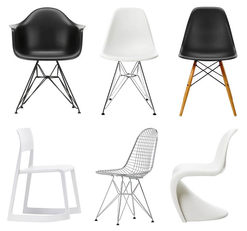 Vitra ruokapöydän tuolit